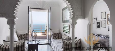 Splendide villa en front de mer, location haut de gamme à Tanger