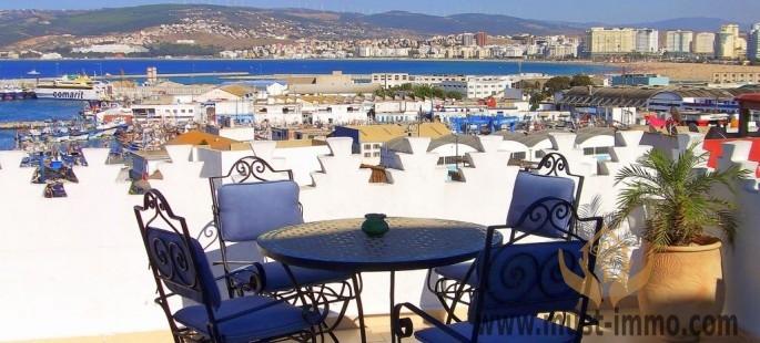 Grande maison, médina de Tanger vue sur mer et panoramique sur la Kasbah