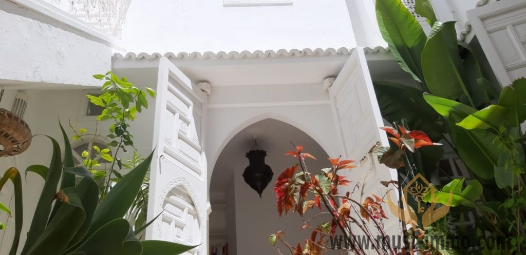 Maison à vendre avec grand patio dans l'ancienne médina d'Asilah