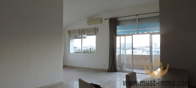 Casablanca, Racine : appartement avec terrasse au 7ème (dernier) étage à vendre