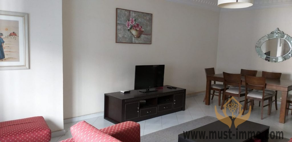 Tanger, appartement meublé à louer dans un quartier résidentiel proche du centre ville