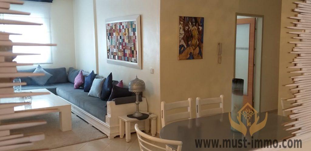 Tanger, location appartement meublé dans un quartier résidentiel