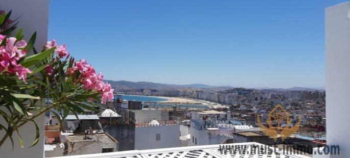 Kasbah de Tanger, magnifique maison d'hôtes vue mer à vendre