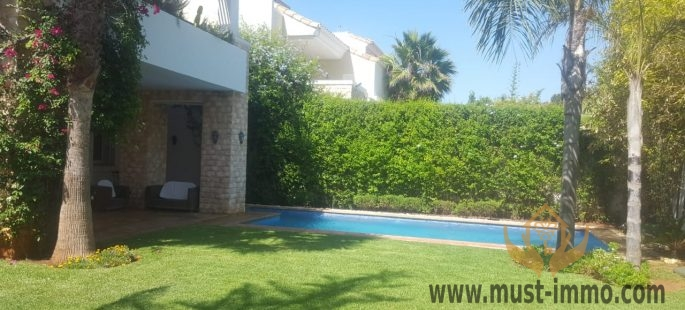 Casablanca, Dar Bouazza: charming furnished villa for rent