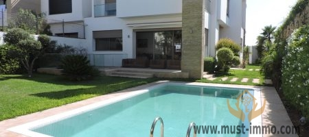 Dar Bouazza: contemporary villa for rent