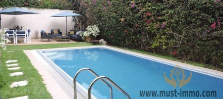 Casablanca, Ain Diab: Villa with pool for rent