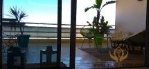 Casablanca, Ain Diab : superbe appartement meublé en location  – terrasse avec vue panoramique sur l'océan