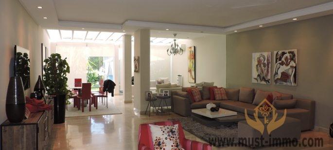 Dar Bouazza: villa contemporaine à vendre, résidence sécurisée